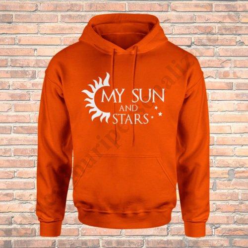 Hanorac cupluri Sun and Stars, hanorace cupluri, idei cadouri personalizate