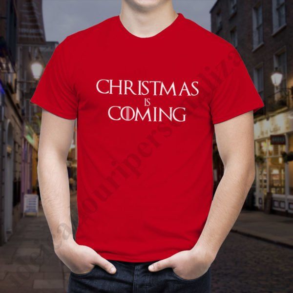 Tricou Christmas is Coming - Barbat, tricouri game of thrones, idei cadouri personalizate