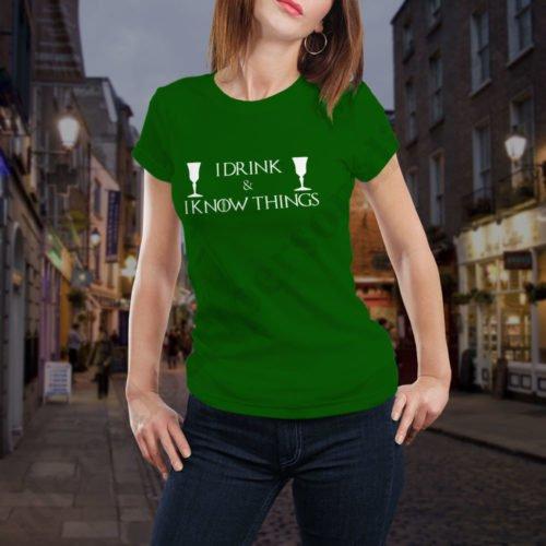 Tricou GoT I Drink - Dama, tricouri game of thrones, idei cadouri personalizate
