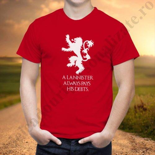 Tricou House Lannister - Barbat, tricouri game of thrones, idei cadouri personalizate