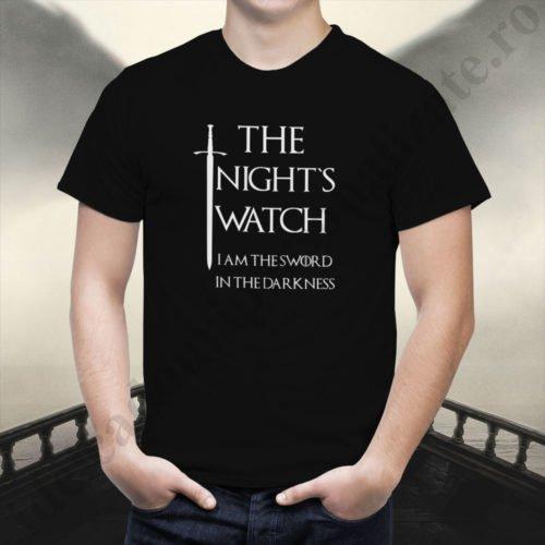 Tricou Rondul de Noapte - Barbat, tricouri game of thrones, idei cadouri personalizate