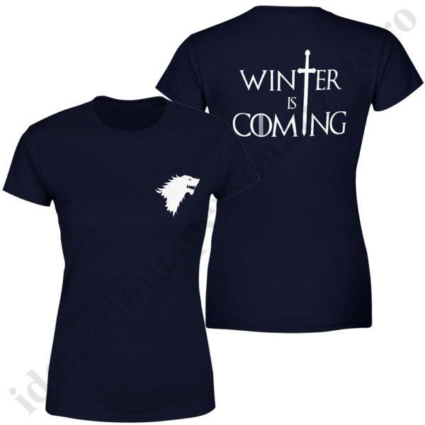 Tricou Stark - Dama, tricouri game of thrones, idei cadouri personalizate
