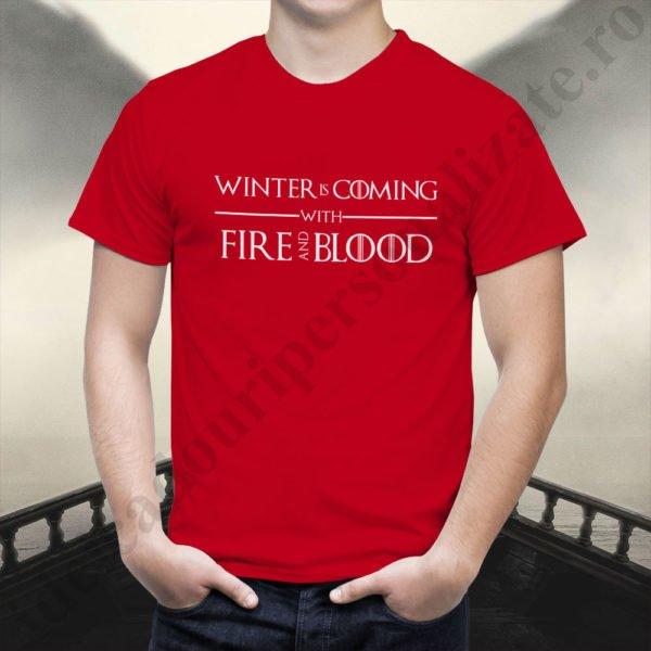 Tricou Targaryen and Stark- Barbat, tricouri game of thrones, idei cadouri personalizate
