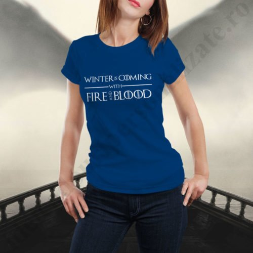Tricou Targaryen and Stark - Dama, tricouri game of thrones, idei cadouri personalizate