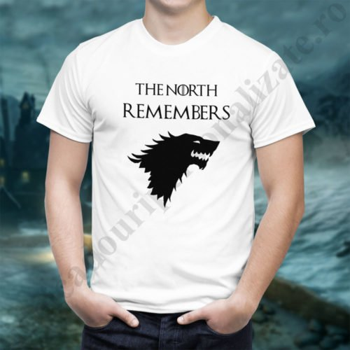Tricou The North Remembers - Barbat, tricouri game of thrones, idei cadouri personalizate