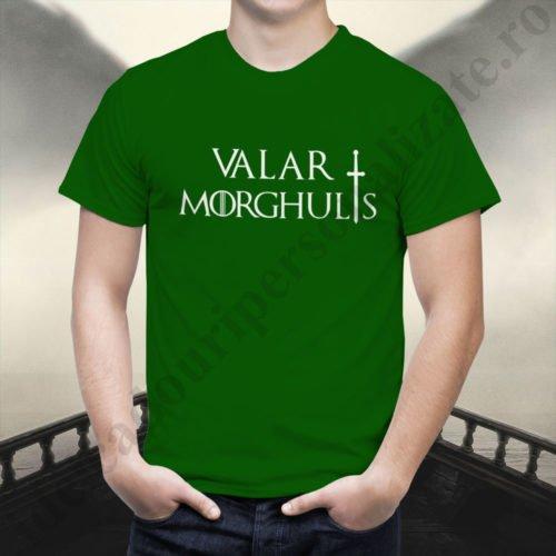 Tricou Valar Morghulis - Barbat, tricouri game of thrones, idei cadouri personalizate