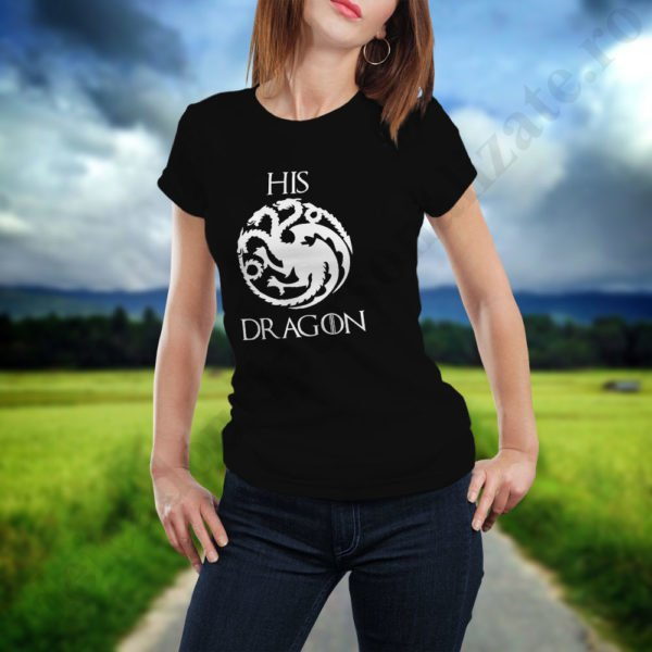 Tricou cupluri Dragon, tricouri cupluri, idei cadouri personalizate