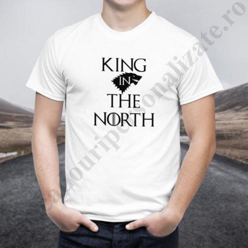 Tricou cupluri King in the North, tricouri cupluri, idei cadouri personalizate