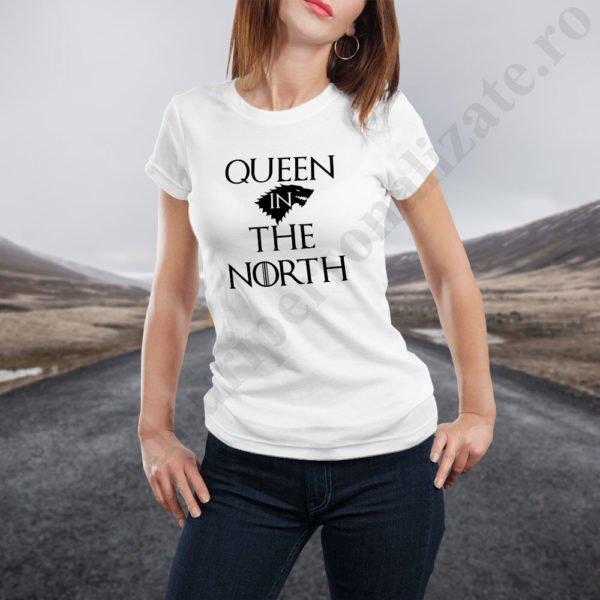 Tricou cupluri Queen in the North, tricouri cupluri, idei cadouri personalizate