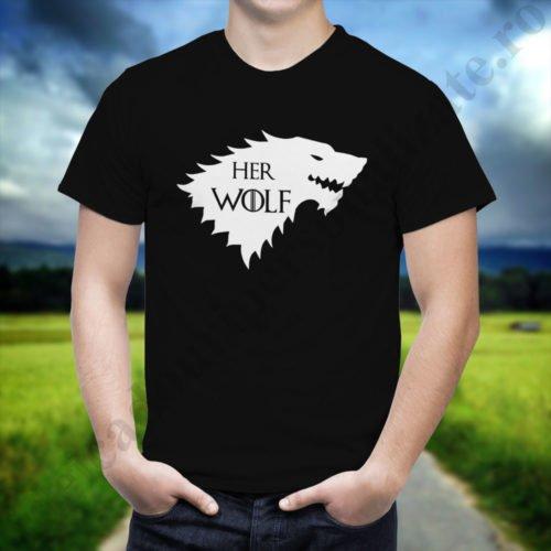 Tricou cupluri Wolf, tricouri cupluri, idei cadouri personalizate