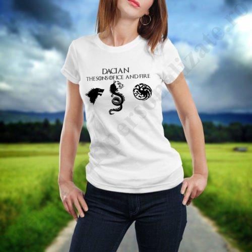 Tricou pentru Daci - Dama, tricouri game of thrones, idei cadouri personalizate